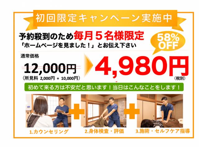 初回限定キャンペーン 4980円